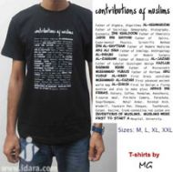 T-Shirt : Contributions of Muslims (Black)