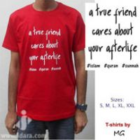 T-Shirt : A true friend cares about your afterlife