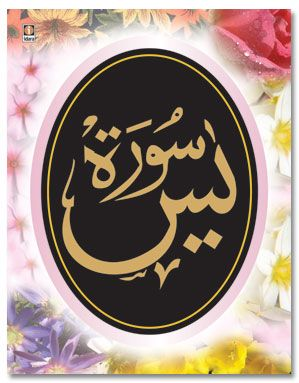 Surah Yaseen (Arabic Only) Multi coloured Large 9.5