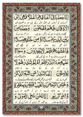 Surah Yaseen (Arabic-Urdu) BIG - Coloured Pages - Islamic Books